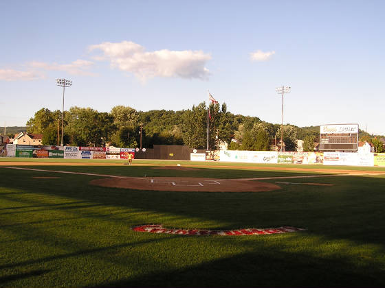 Bowman Field from behind home plate