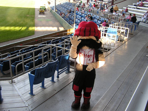Rusty the Crosscutters mascot