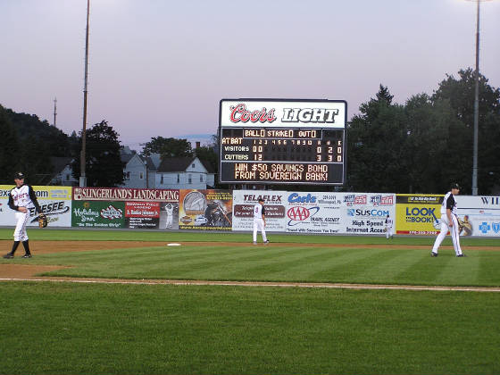 Bowman Field, the scoreboard